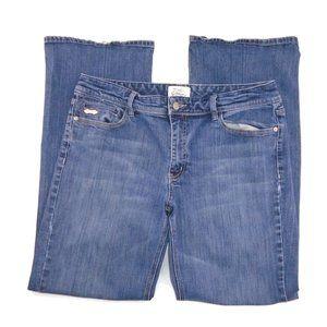 WHBM Blanc Jeans 12S Boot Cut Medium Wash Blue